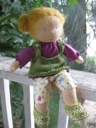 Willow Berrie Waldorf Style doll made for Earthday