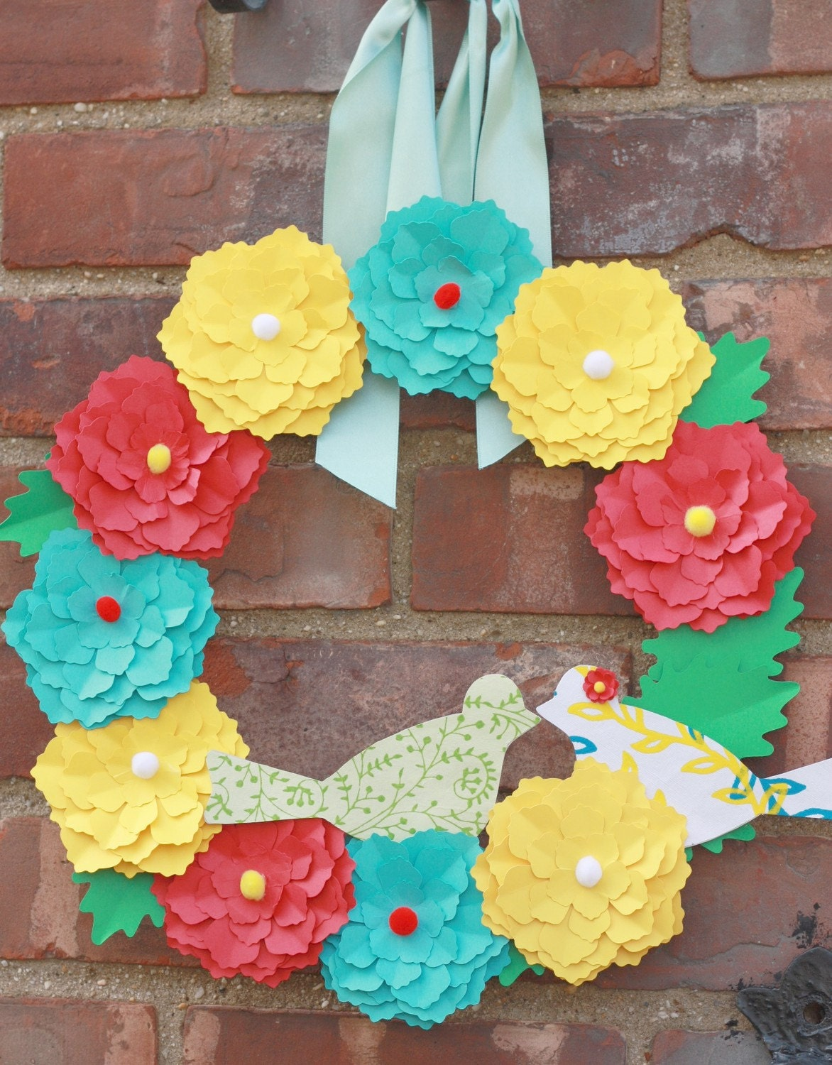 Customizable Paper Blossom Wreath Kit- DIY