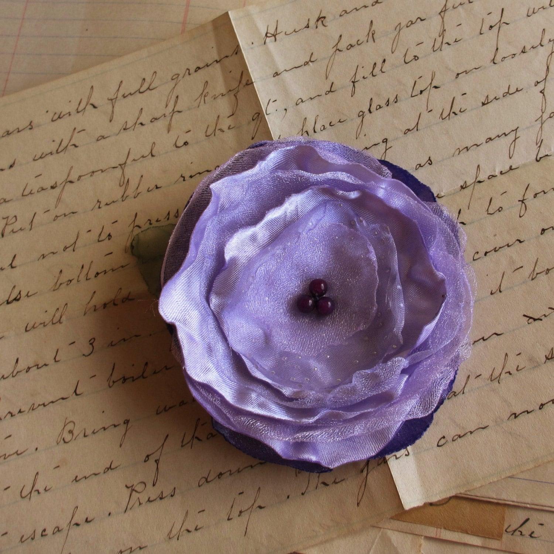 Sweet Lavender Flower - Hair Clip AND Pin - poppyandpurl