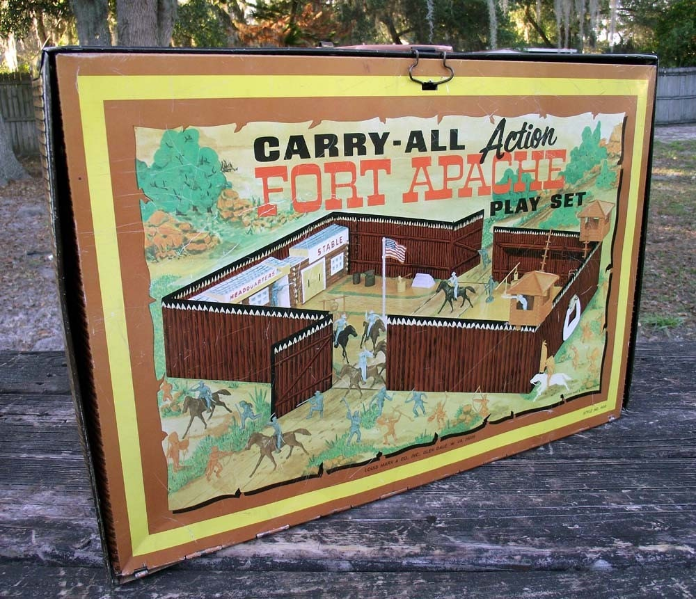 Fort Apache Carry-All Action Play Set by Marx 1960's