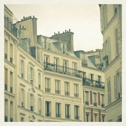 New Year in Paris 8 x 8 Print