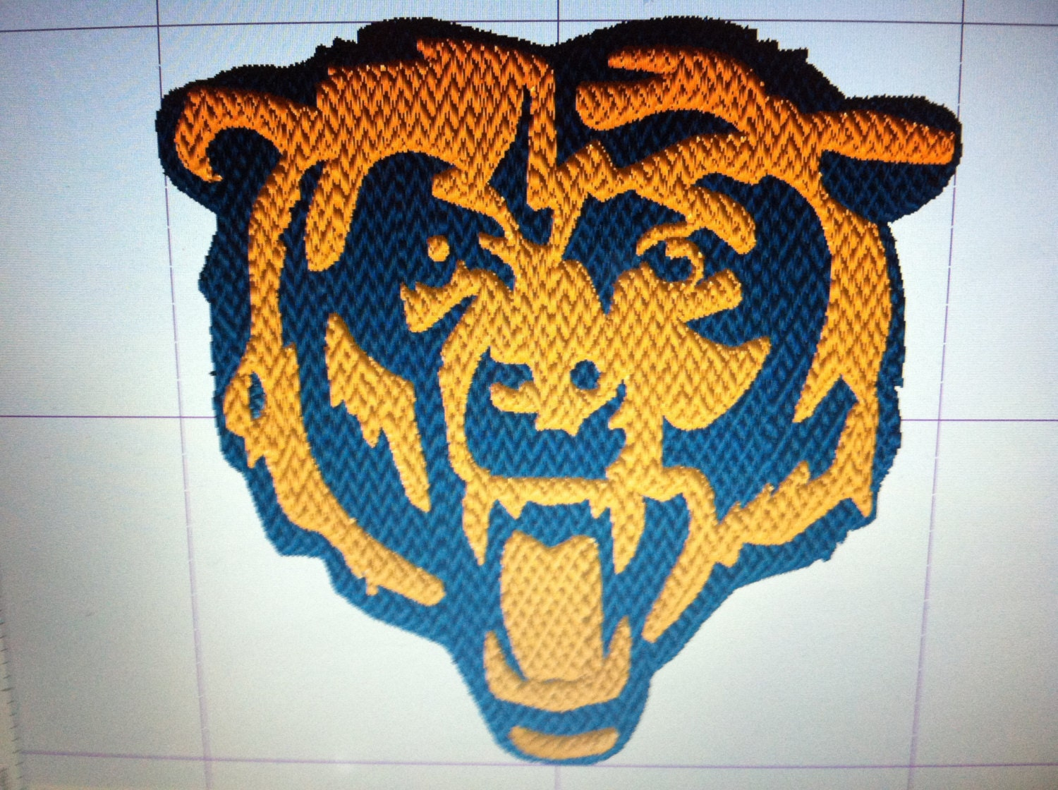Chicago Bears Logo Embroidery Design