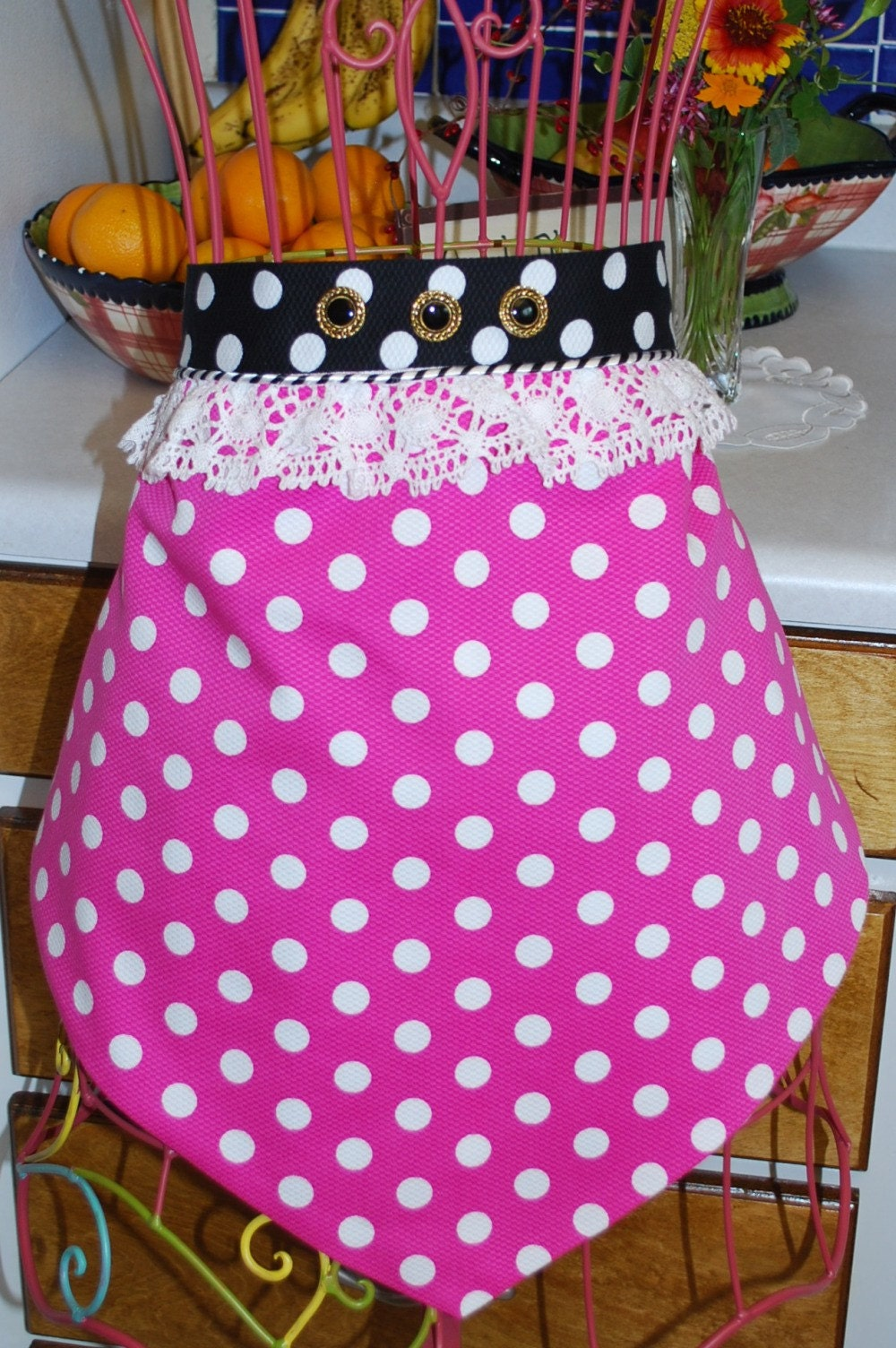 Strawberry Shaped Half Apron