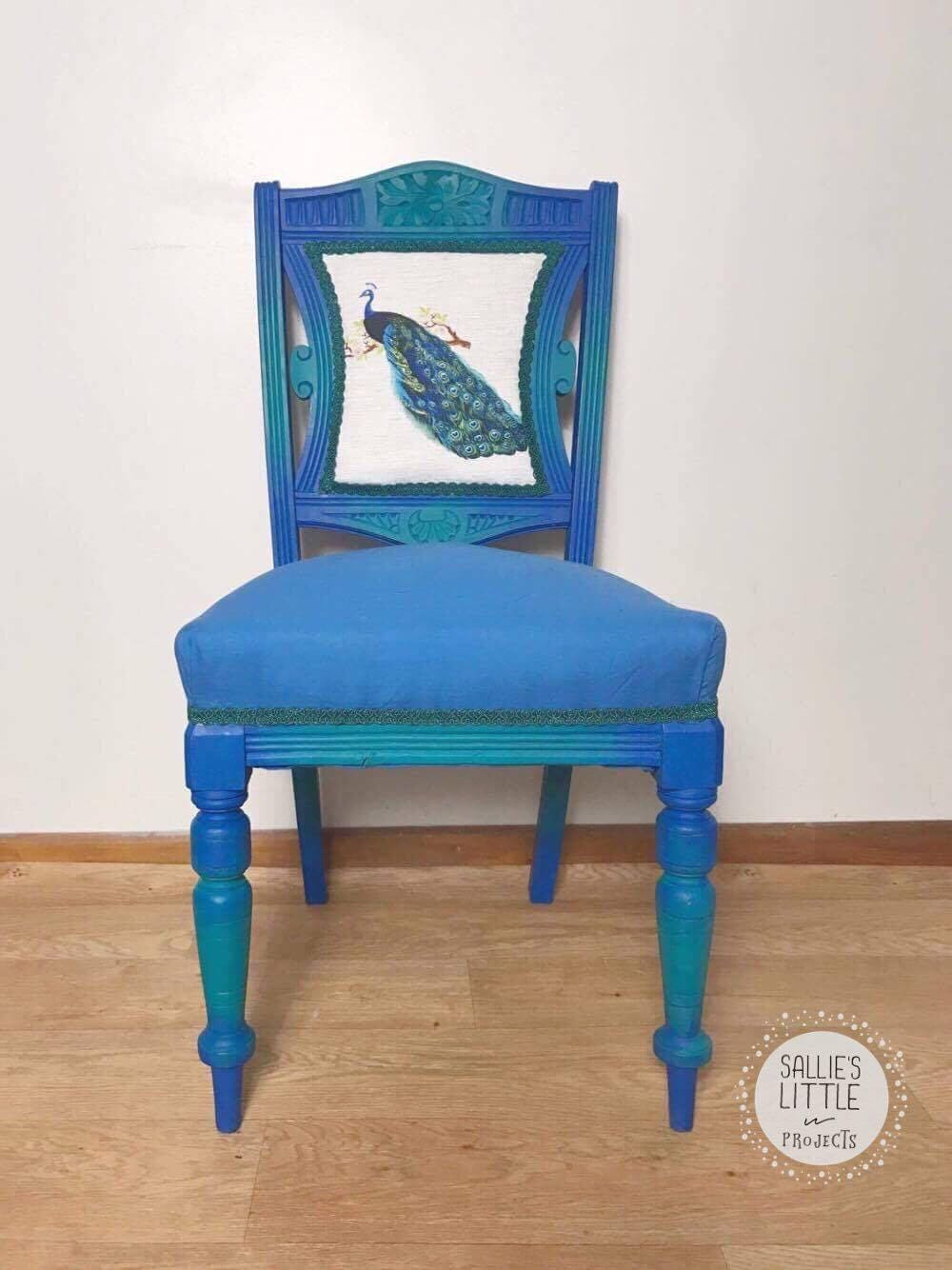 Chair handpainted chair peacock chair bedroom chair