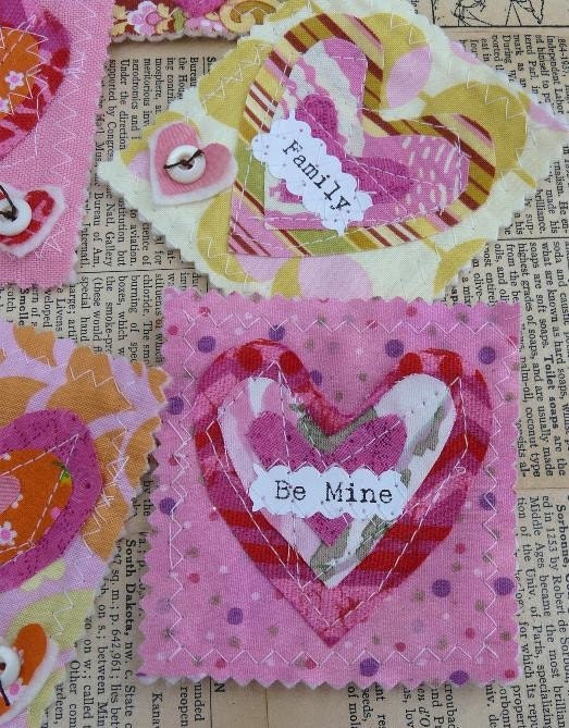 Retro Valentine Scrappy Heart Pin E Pattern - email Be Mine pdf brooch jewelry gift primitive sayings words