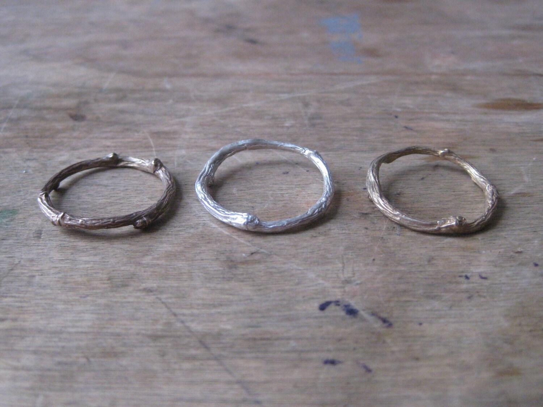 Brass Twig Ring