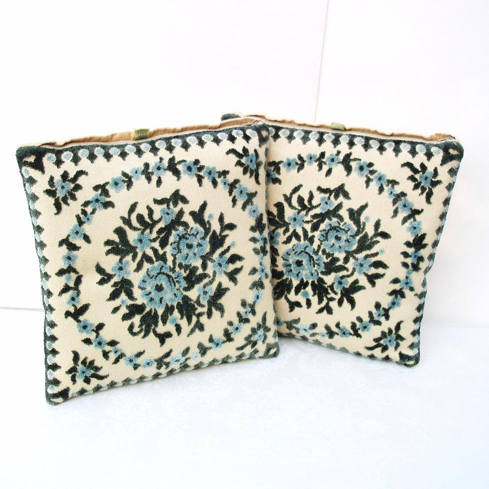 Accent Pillows Sofa Pillows Vintage Chenille by WhimzyThyme