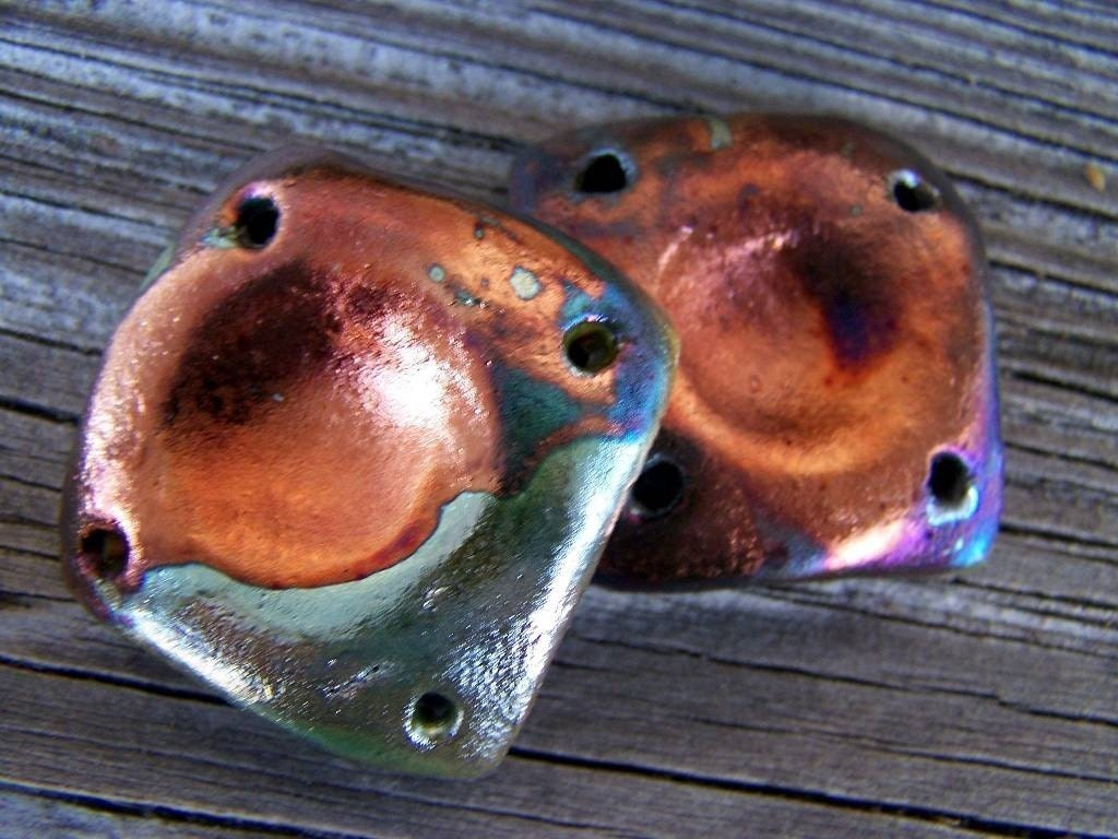 Looking Inward...Raku Square Beads