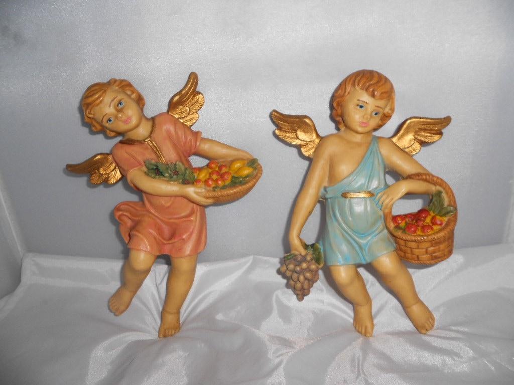 Angel Wall Hanging Figurines Resin Angel By Vintagebyrudi