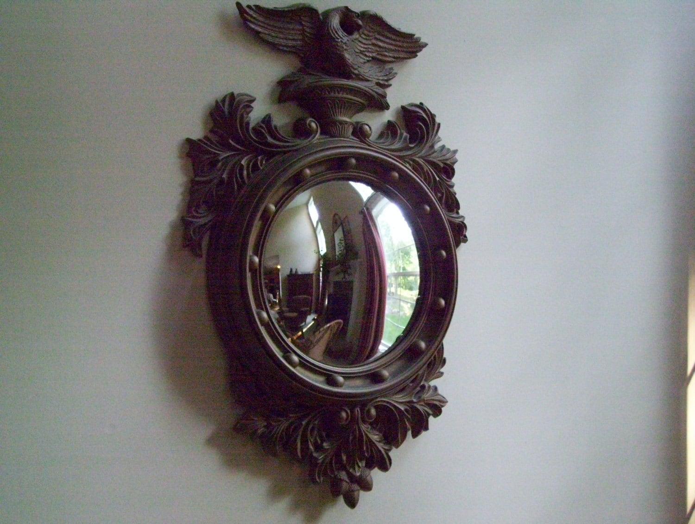 Vintage Convex Eagle Mirror By Turner Mfg By