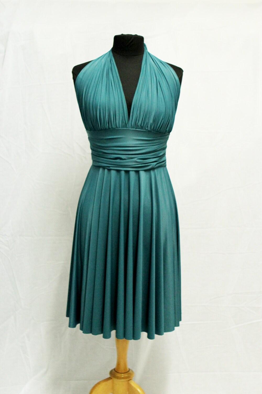 Convertible dress emerald green jade green dress by tadson for Jade green wedding dresses