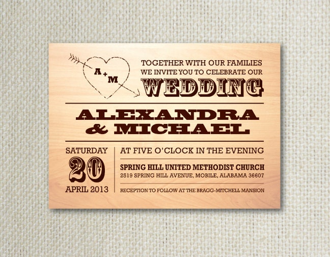 Superior Country Wedding Wording For Invitations Rustic Country Wedding Invitation  Response Card By Designsbylns