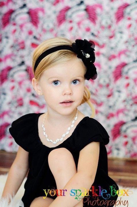 Черный Цветок Повязка - черный цветок шифон Слойка с жемчуг и стразы Черный головная повязка или зажим для волос - Сесилии - Vintage Вдохновленный