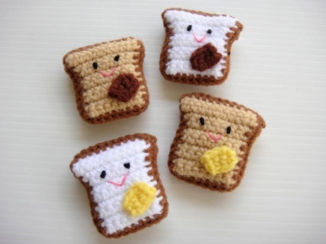 Crochet Applique - Baby Toast