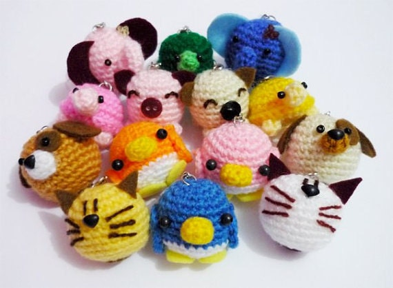 Amigurumi Ball Animal : Wholesale Mixed Lot of Crocheted Animal Ball by DarmianiDesign