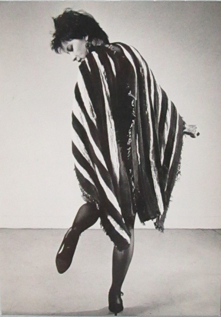 Vintage B&W Postcard from Dianne B. NYC 1983 Scarf by Junici Arai Photographed by Peter Hujar - LyricalVintage