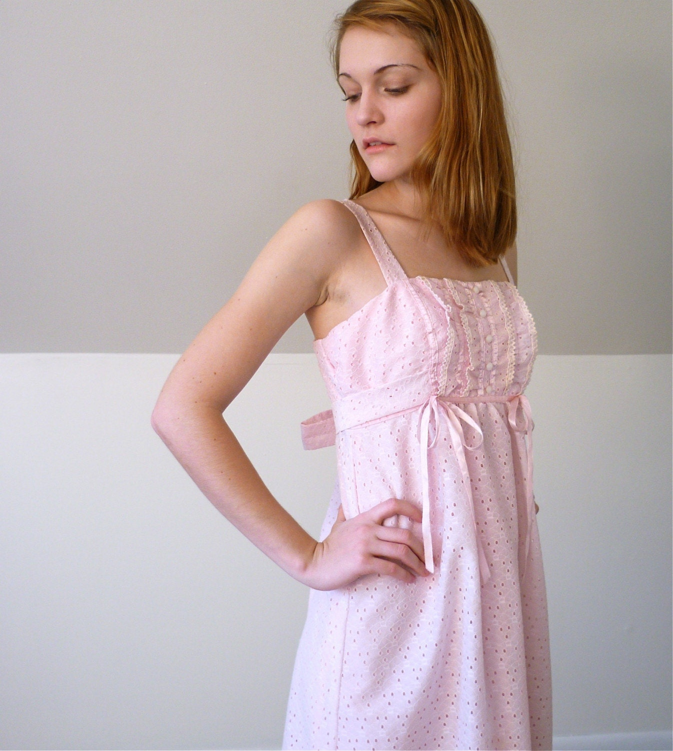 The Pink Eyelet and Lace Dress