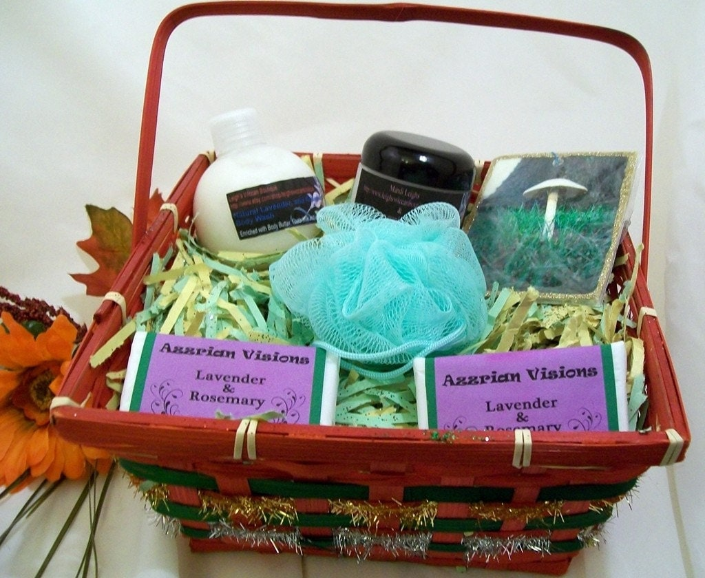 Lavender and Rosemary Holiday Gift Basket