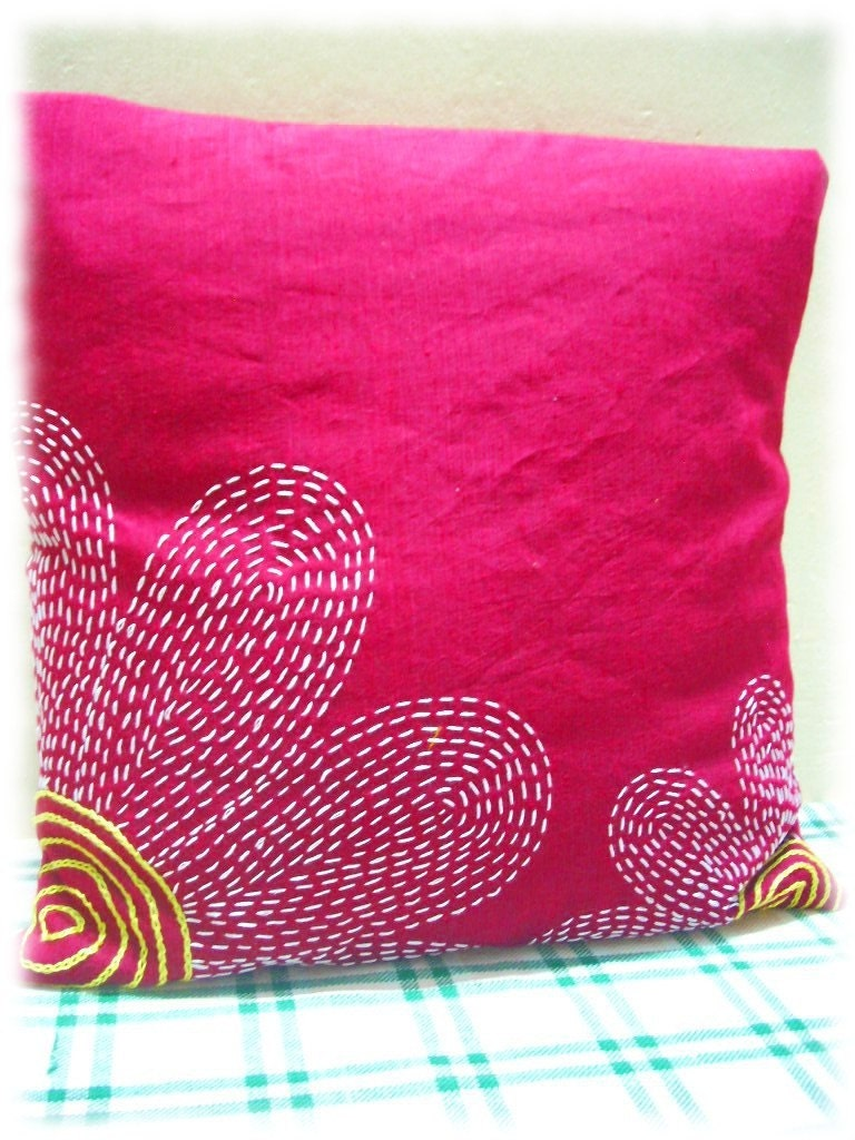 hand embroidery designs for pillow covers