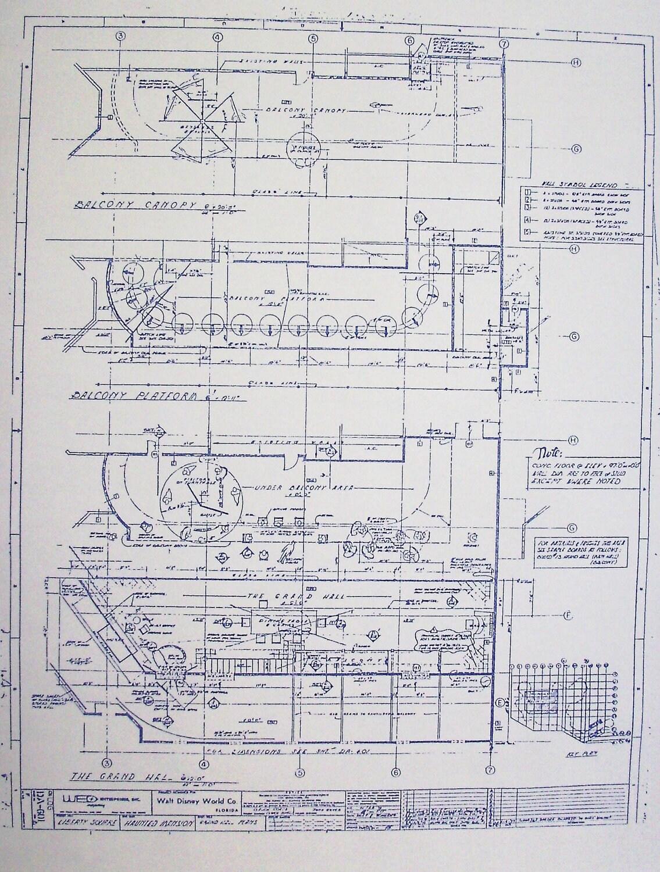 Walt disney world haunted mansion grand hall by blueprintplace for Haunted mansion blueprints