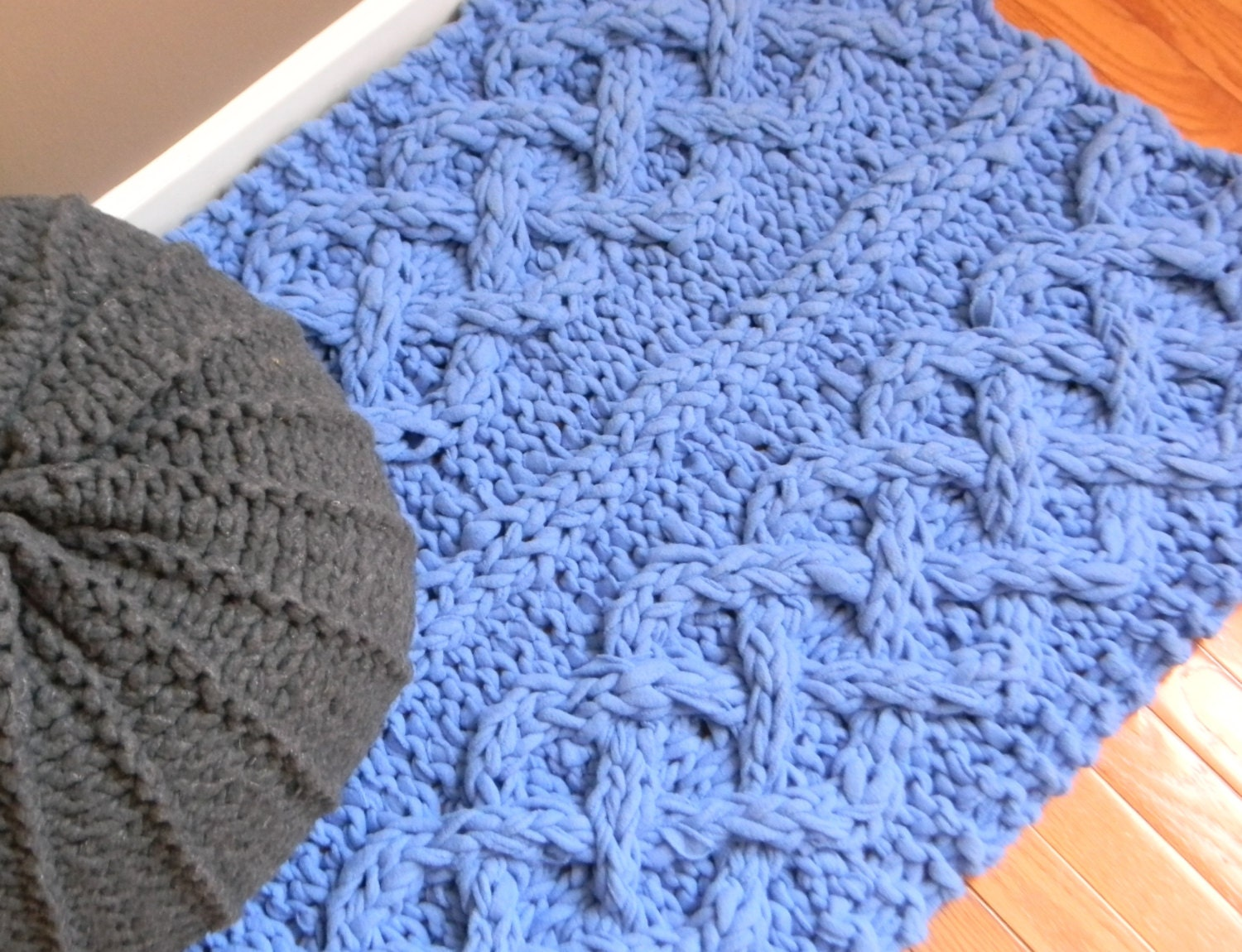 Big Chunky Cable Knit Rug Pattern Only permission by ...