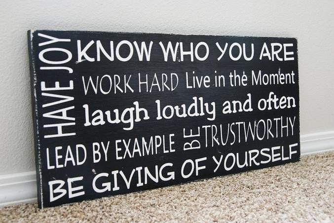 Custom Family Rules Sign- Choose Your Own Rules, Phrases, Words to Live By...Available in other colors
