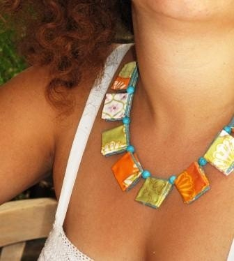Folding Me Softly-Two in one-Origami Fiber Necklace-Spring 2010- Eco Friendly-Magali