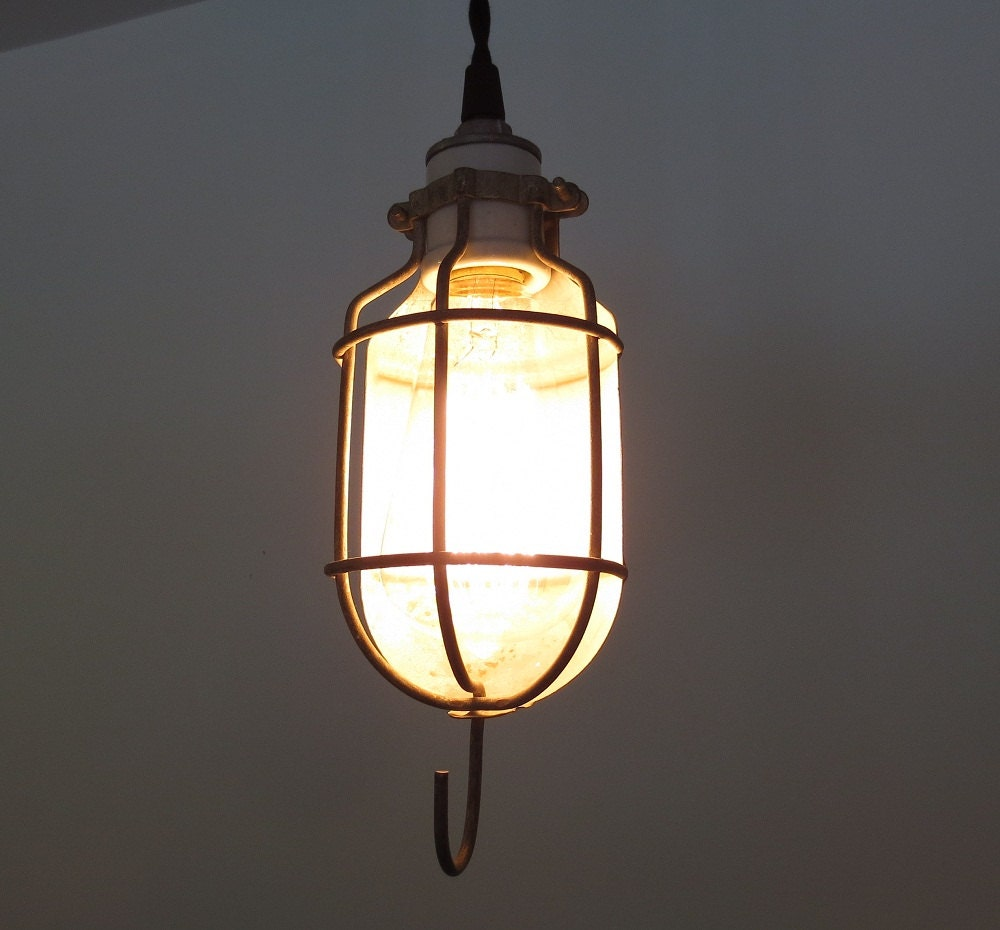 Industrial Bulb Cage PENDANT Light