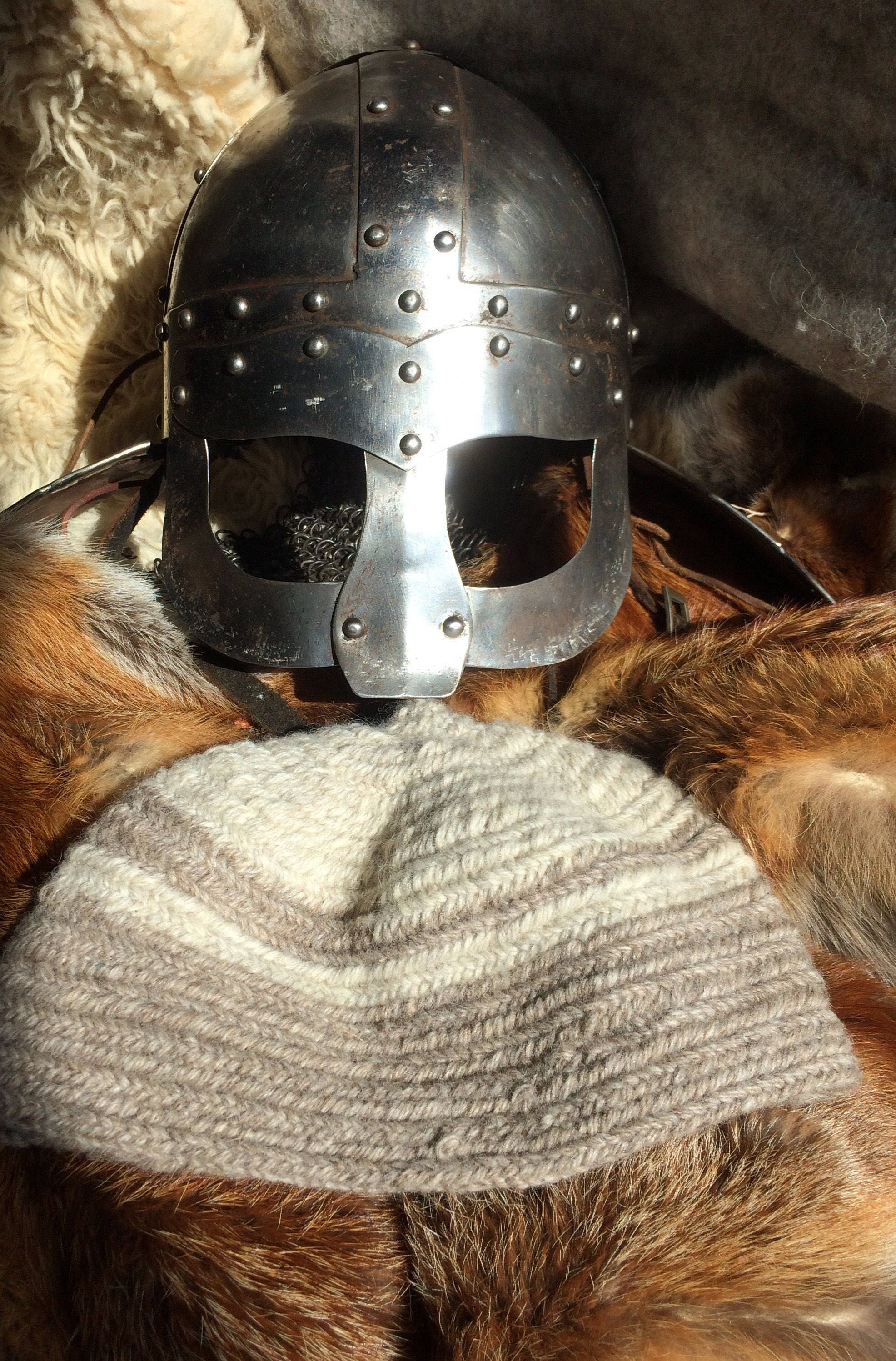 Nalbinded 100  wool hats made to sizein ancient breed wool.Viking AngloSaxon Medieval  living history sca larp reenactment