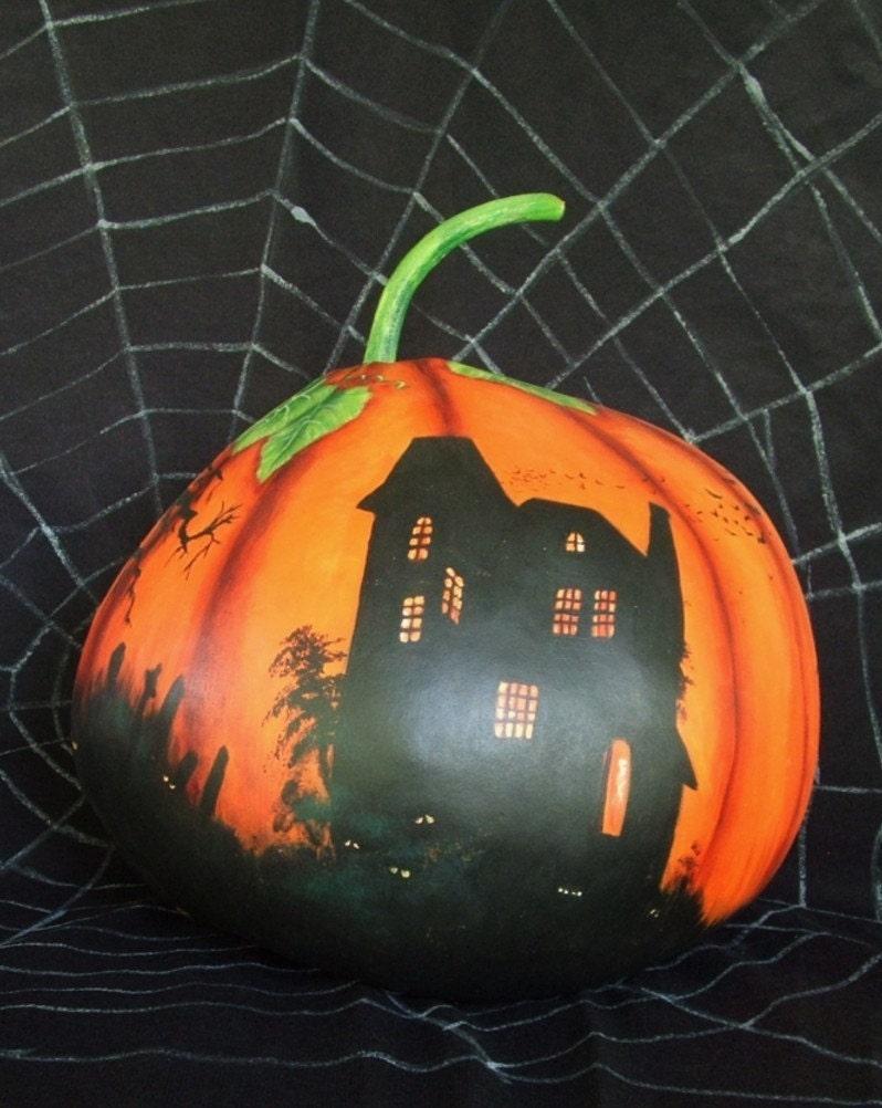 Spooktacular, pumpkin gourd, MHA, 11 inches tall