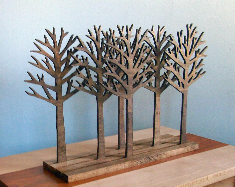 Idée déco : Forêt d\'arbres en bois brut - le coin du bois, le blog ...
