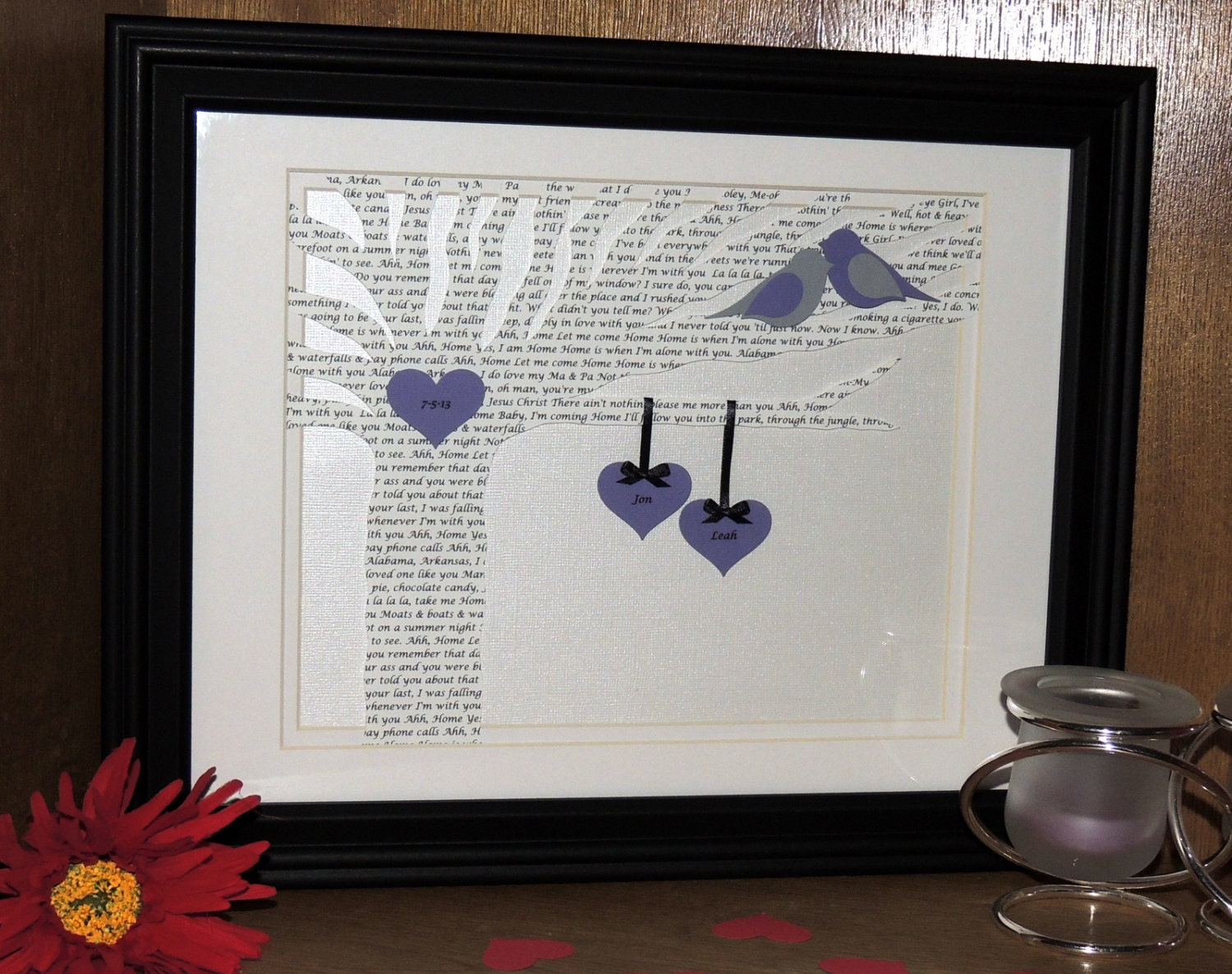 Personalized wedding or anniversary gift first by