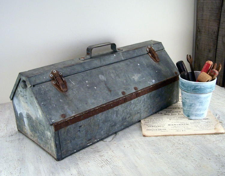 Vintage Rustic Tool Box