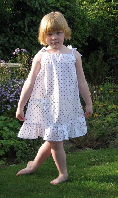 Pretty flounce Sundress (4-5 years)  Free shipping
