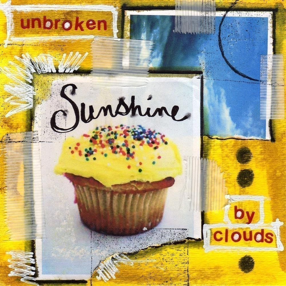 SUNSHINE Cupcake Mixed Media Art Collage Painting PRINT