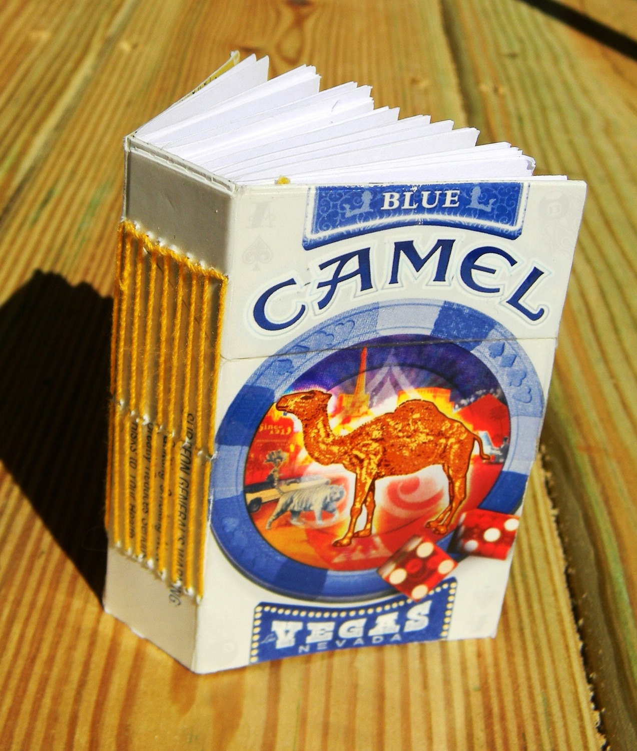 Recycled Ciggie Notebook: Camel Vegas Special Edition Pack