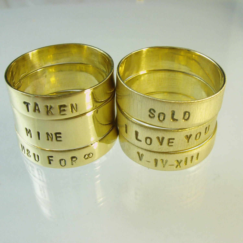 Mens Wedding Band Personal Ring Inscription Ring Declaration Of