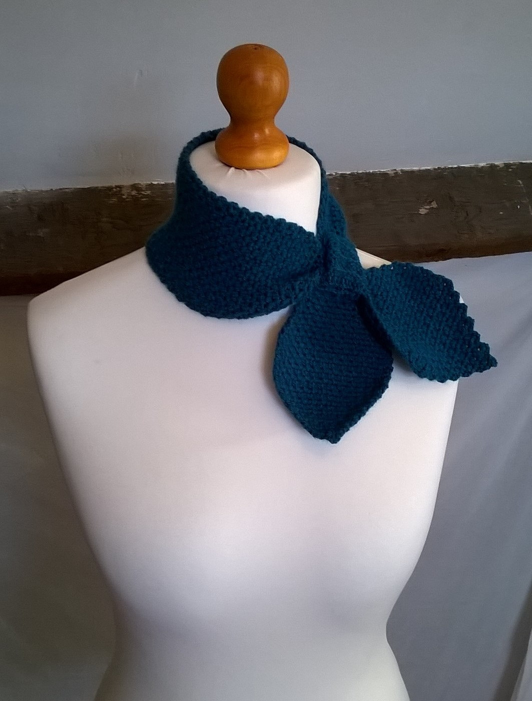 Crochet Keyhole Ascot Scarf  Made To Order  Choice of Colour