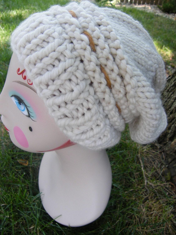 Roxy's Slouch Hat Knit Pattern - New