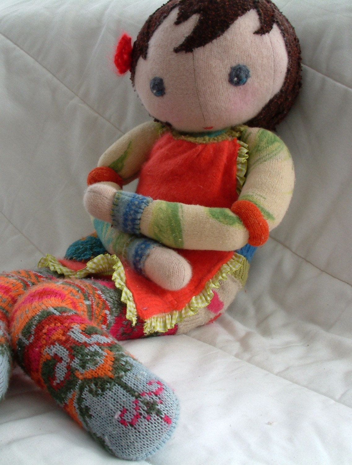 waldorf doll felted recycled sweaters stuffed with wool-taking custom orders