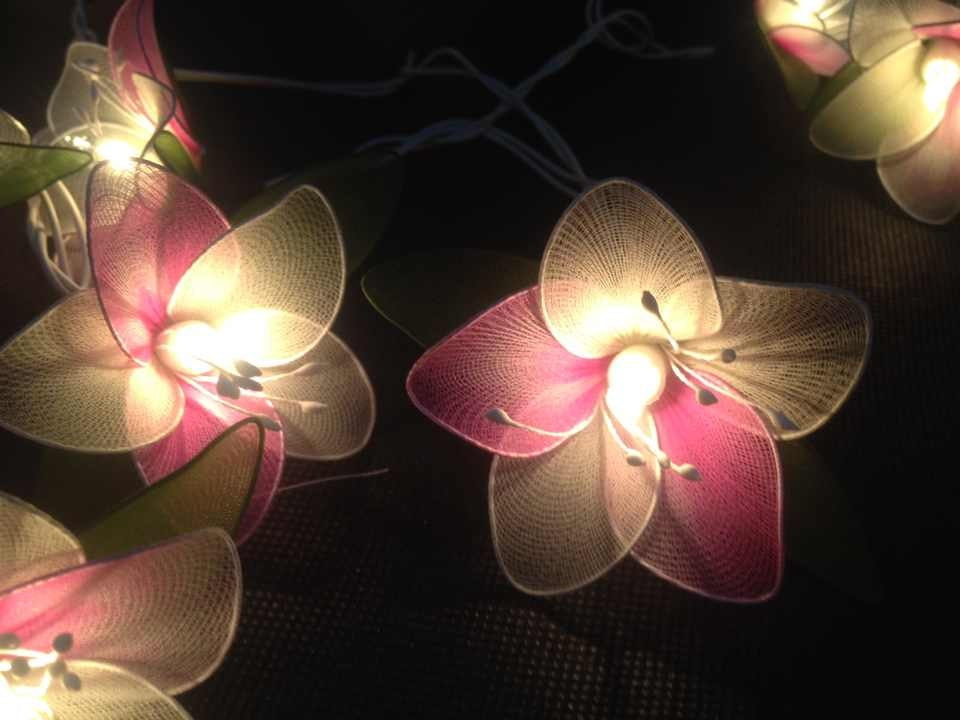 fairy lights 20 yellow orchid flower fairy by icandylighting