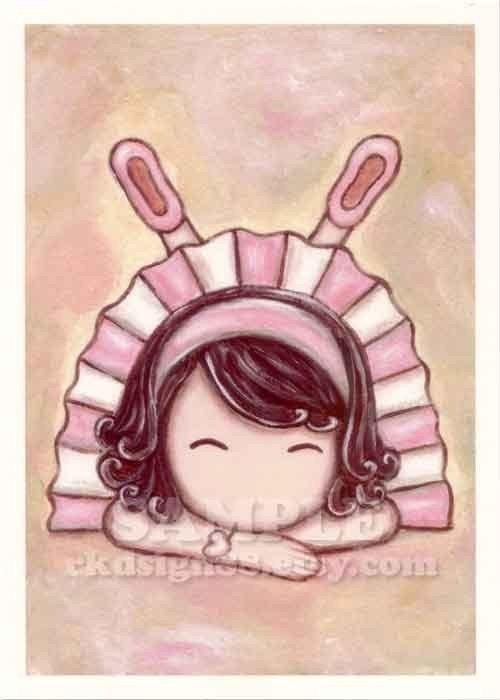 Adorable - Whimsical Girl with Tutu Nursery Art Print
