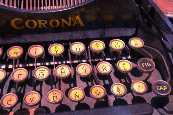 "Vintage Typewriter ""Writing Machine no. 1"" at Los Angeles Flea Market - 8x10"" Fine Art Matte Photography Print"
