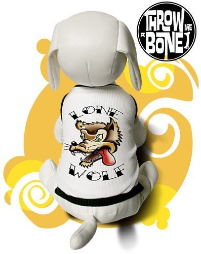 LONE WOLF TATTOO STYLE Pet Clothing