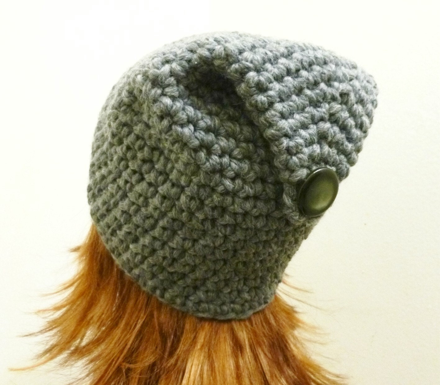 Crochet Chunky Earflap Hat Pattern : PDF Crochet Pattern Chunky Flap-Back Beanie by HandmadeCottage