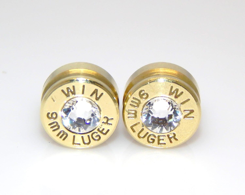 bullet earrings april birthstone by