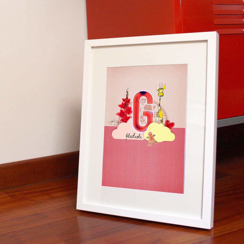 Alphabet Print GIRL 20x30cm, the letter G