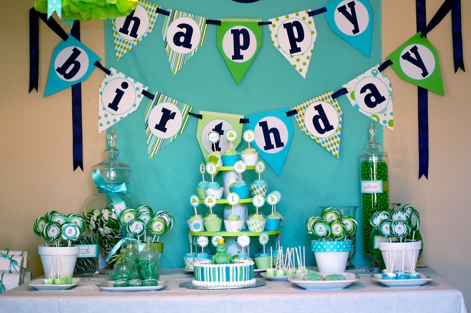 frog prince happy birthday banner diy by frogprincepaperie