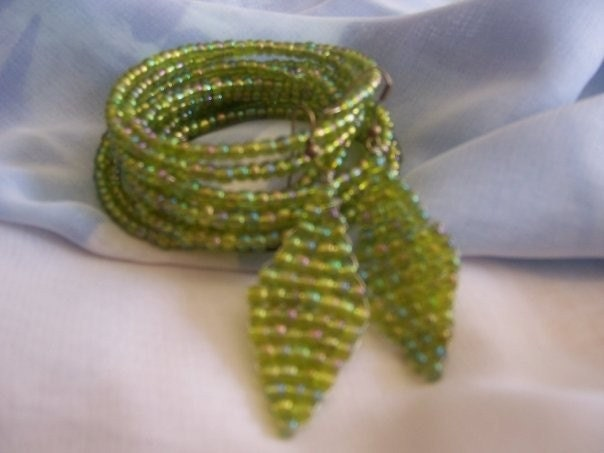 Beaded Earings and Bracelets.