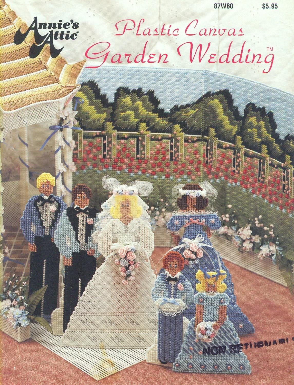 Annies Attic GARDEN WEDDING - Plastic Canvas Needlepoint - Entire ...
